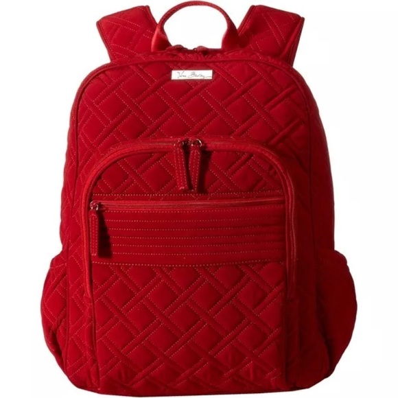 eb1f6edd55c2 Vera Bradley Campus Backpack in Tango Red. M 5a00e0ee680278edaa13dc69