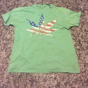 American flag weed shirt
