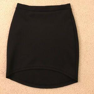 Forever 21 Black High-Low Pencil Skirt