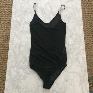 Zara Sheer Black Bodysuit *NEW*