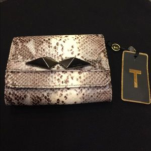 Ted Baker London small clutch snake leather