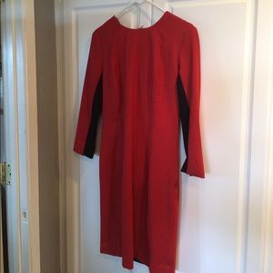 Red and black sexy sheath dress