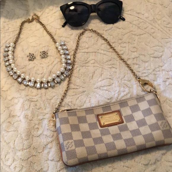 1c78b6dbeae0 Louis Vuitton Handbags - Louis Vuitton Milla Damier Azur MM Pochette
