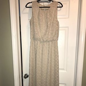 Chico's Maxi Dress In Cream Size 10 or 1.5