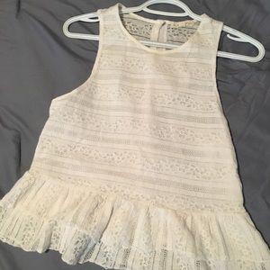 LA Hearts white lace top