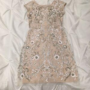 Beaded white/cream dress