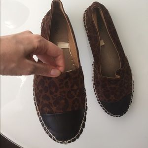 Leopard espadrille with faux leather