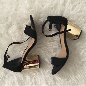 Shoes - Stunning black and gold heels