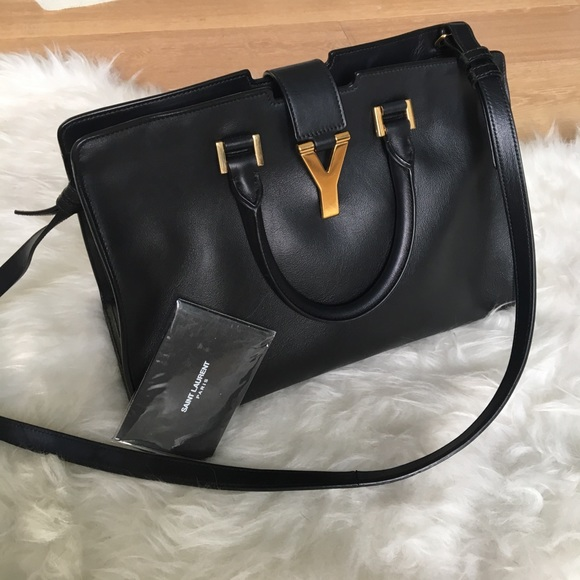 3e116870a6a Yves Saint Laurent Bags | Sac Ligne Y Black And Gold | Poshmark