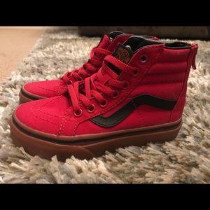 Vans Shoes   Kid Boy Red High Top Vans