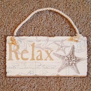 Relax Nautical Metal Sign