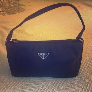 Prada Pouch Nylon Purse Pochette Authentic