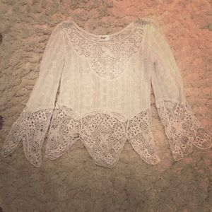 Meghan LA lace top