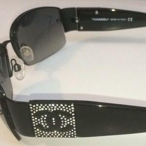 716731dccbd CHANEL Accessories - Chanel Black   Bling Sunglasses