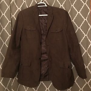 Men's brown suede-like blazer