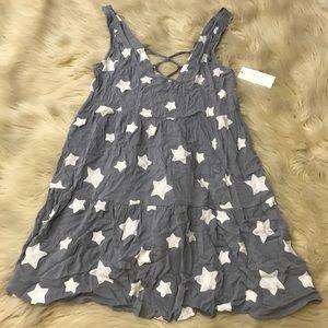 Romeo & Juliet Couture grey star tunic dress