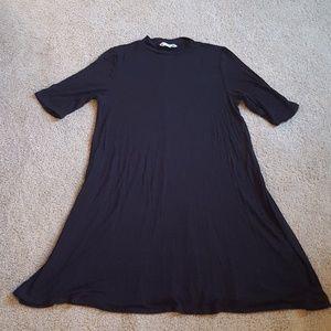 Basic Black Swing Dress