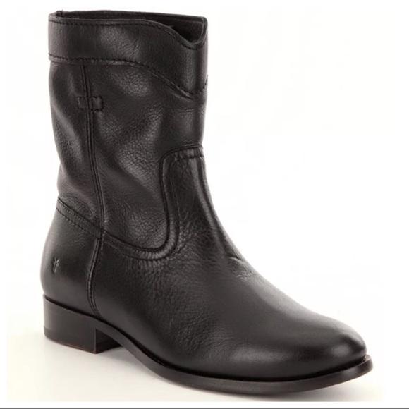 a3f2ddcd83f NWT Frye Cara Short Black Leather Ankle Boots NWT