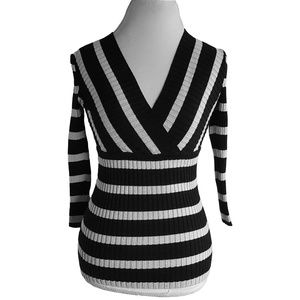 INC International Concepts Striped Shimmer Sweater