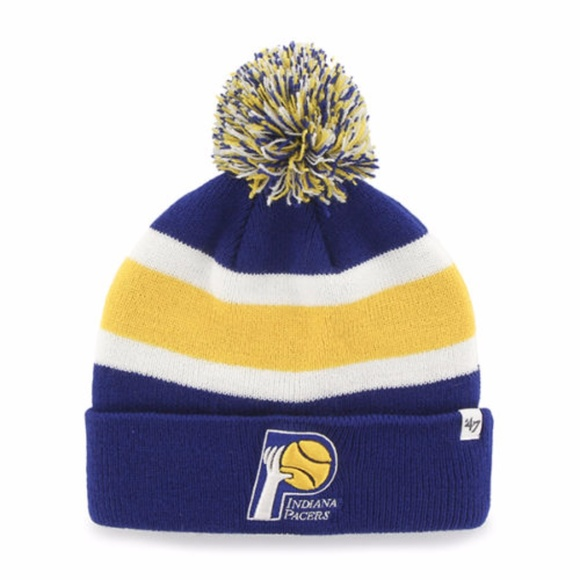 782000cd82248 Indiana Pacers 47 Brand Throwback Beanie Hat