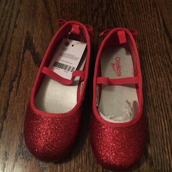 Size 9 Red Glitter Osh Kosh Girls Shoes