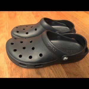 Mens navy blue Crocs