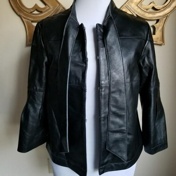0841936db NEIMAN MARCUS EXCLUSIVE leather jacket