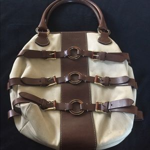 Vintage Valentino Brown Leather Belted Purse