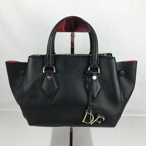 Diane Von Furstenberg Double Zip Leather Satchel
