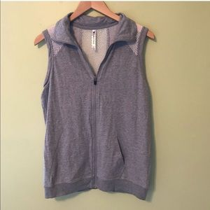 Fabletics Sleeveless Sweatshirt with Mesh Back