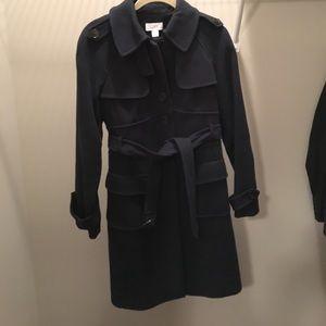 Loft blue heavy winter trench coat