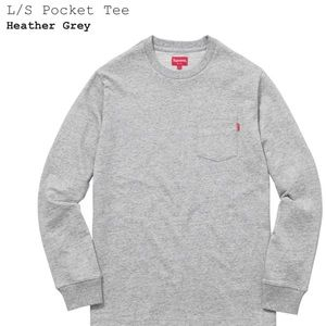 Supreme Long Sleeve Pocket Tee