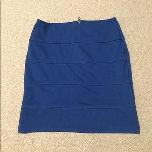 Trouve Blue Bandage Skirt