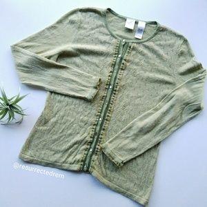 EMMA JAMES Liz Claiborne Knit Cardigan Size M