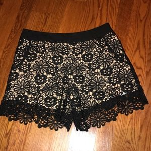 Monteau black over nude adorable shorts