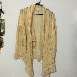Holey, off-white Cotton On cardigan
