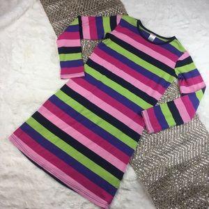 GYMBOREE STRIPE PINK PURPLE DRESS 12