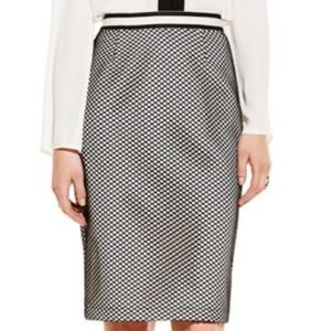 Vince Camuto Sporty Mesh Overlay Pencil Skirt