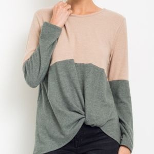 TIFFANIE Softest Top - OLIVE MIX
