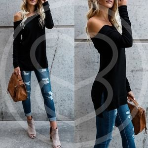 LAYLA Off Shoulder Top - BLACK