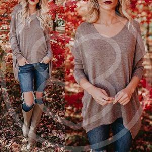 AUTUMN FEELS Knit Sweater - MOCHA