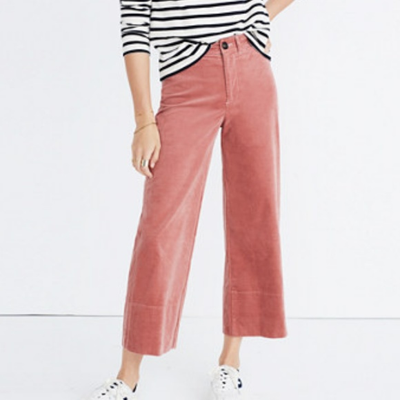 32253c298b Madewell Pants - Madewell Velveteen Wide Leg Crop (27)