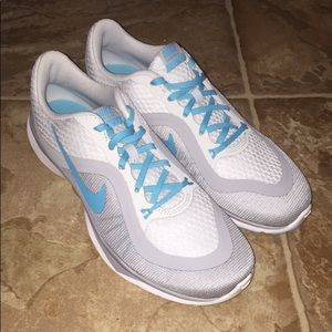 Women's Nike PlatinumBlue/WolfGrey Running Shoes