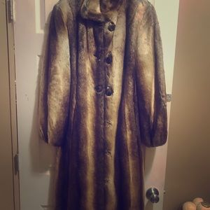 Pamela McCoy fur coat