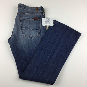 7 for all mankind bootcut jean 28x29