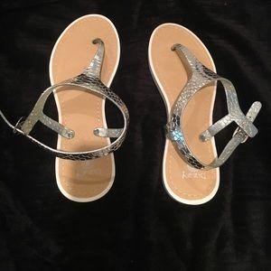 Shoes - Dizzy Brand Silver Sandals