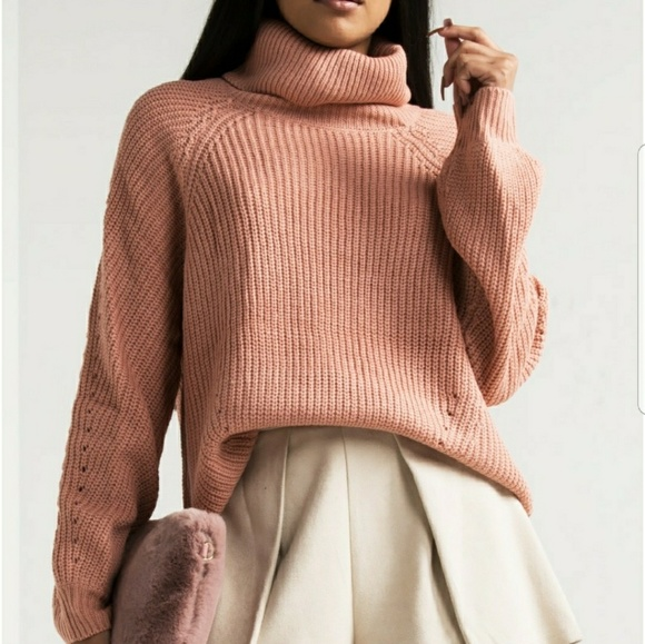 . Sweaters - 💋1 LEFT💋COZY BLUSH PINK SWEATER