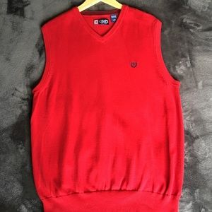 Chaps Red v-neck Sweater