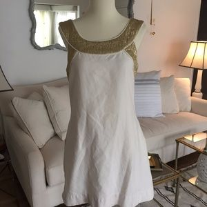 Gold and white Shoshanna Holiday Dress