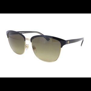 Gucci black ,gold, brown sunglasses